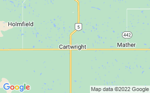 Map of Cartwright Campground