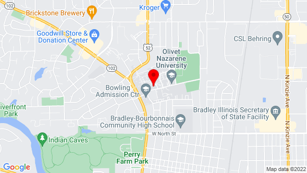 Google Map of 1 University Drive, IL