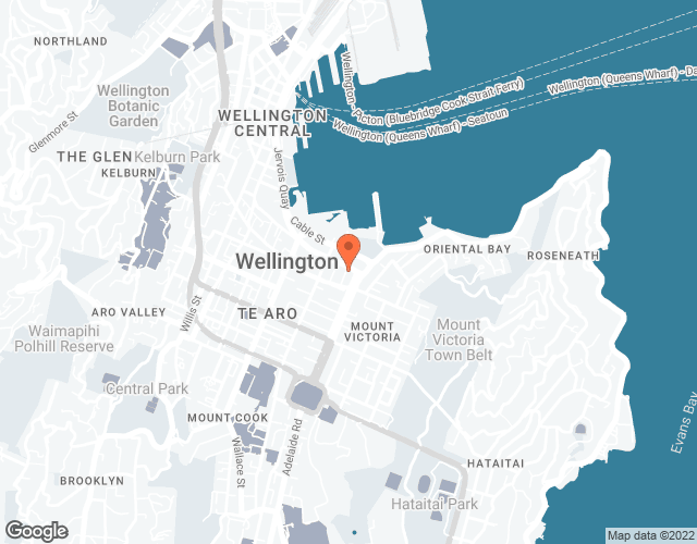 Google Map of 1-3 Blair Street, Wellington