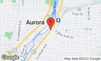 Map of 1 North Broadway AURORA, IL 60505