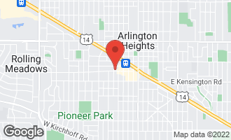Map of 1 North Chestnut Avenue 3H ARLINGTON HEIGHTS, IL 60005