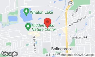 Map of 1 Roanoke Court BOLINGBROOK, IL 60440