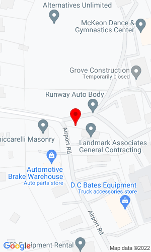 Google Map of D.C. Bates Equipment Co. 10 Airport Drive, Hopedale, MA, 01747