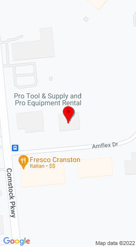Google Map of Pro Tool & Supply Inc. 10 Amflex Drive , Cranston, RI, 02921