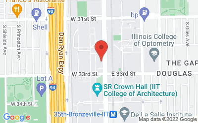 Map of 10 West 33rd Street Room 206 Chicago, IL 60616