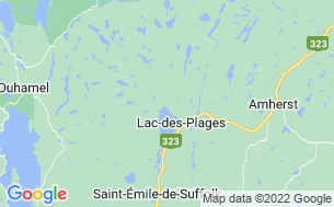 Map of Camping Lac Des Plages