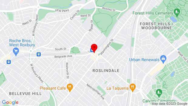 Google Map of 10 Birch Street, Roslindale, MA 02131