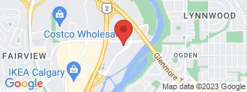 Google Map of 10+Heritage+Meadows+Road%2C+SE%2CCalgary%2CAlberta+T2H+3C1