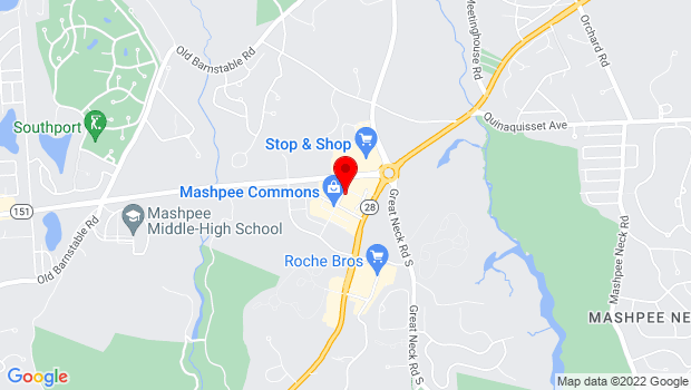 Google Map of 10 Market Street, Mashpee Commons, MA 02649