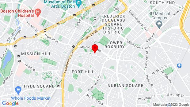 Google Map of 10 Putnam Street, Boston, MA 02119