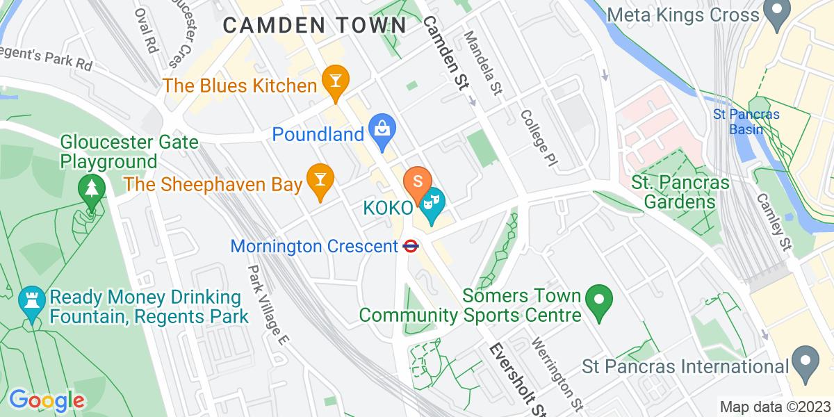 Google Map of 10-12 Camden High Street London NW1 0JH