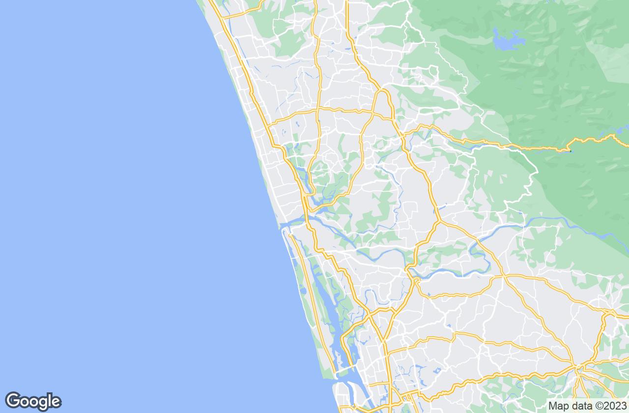 Google Map of Kodungallur