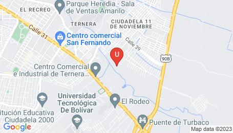 Ubicación o localización del proyecto de finca raíz  en venta: Altos de San Agustin en San Jose de Los Campanos - Cartagena - Colombia