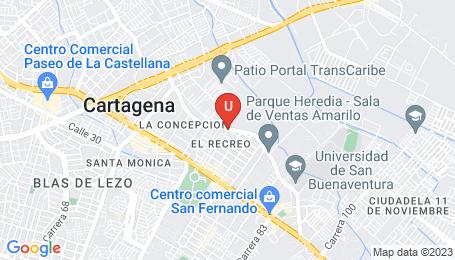 Ubicación o localización del proyecto de finca raíz  en venta: Portal de Los Abetos en El Recreo - Cartagena - Colombia