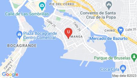 Ubicación o localización del proyecto de finca raíz  en venta: Edificio Palma Soriana en Manga - Cartagena - Colombia