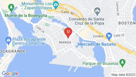 Ubicación o localización del proyecto de finca raíz  en venta: Astorga 414 en Manga - Cartagena - Colombia