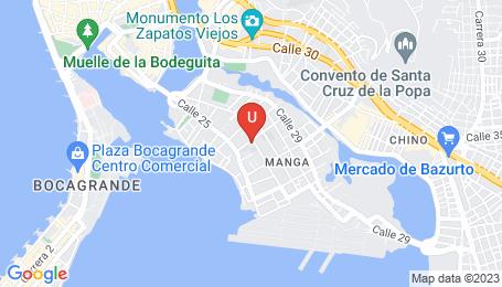 Ubicación o localización del proyecto de finca raíz  en venta: Edificio Cygnus 262 en Manga - Cartagena - Colombia