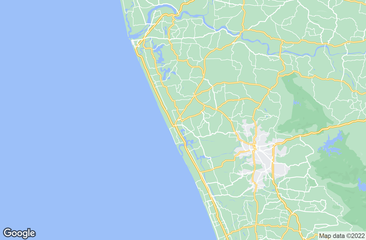 Google Map of Guruvayur