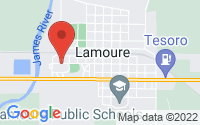 LaMoure Location Map