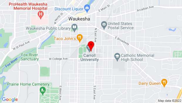 Google Map of 100 N. East Avenue, Waukesha, WI 53186