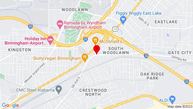 Google Map of 100  59th Street South, Birmingham, AL 35212