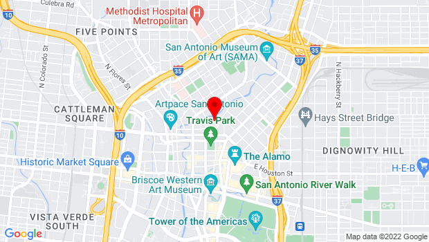 Google Map of 100 Auditorium Cir, San Antonio, TX