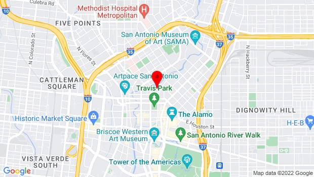 Google Map of 100 Auditorium Circle, San Antonio, TX 78205
