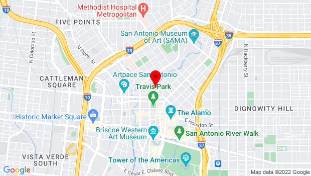 Google Map of 100 Auditorium Circle, San Antonio, Texas 7205