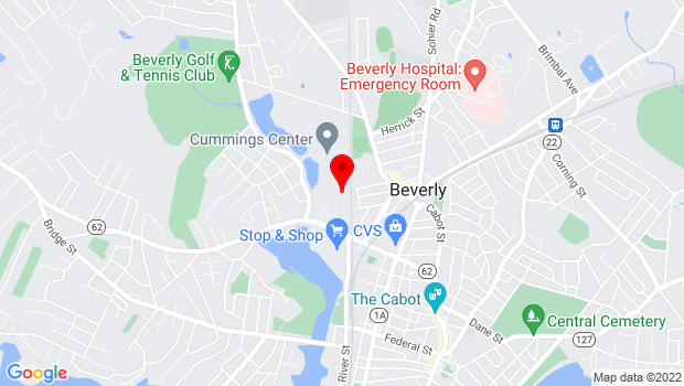Google Map of 100 Cummings Center , Beverly, MA 01915