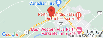 Google Map of 100+Dufferin+Road+%28Hwy+7%29%2CPerth%2COntario+K7H+3A7