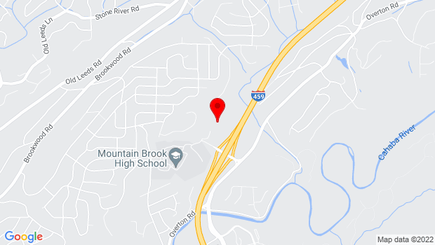 Google Map of 100 Overton Access Rd, Birmingham, AL 35210