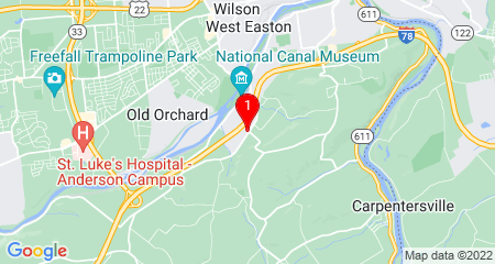 Google Map of 100 Rose Ct Easton, PA 18042
