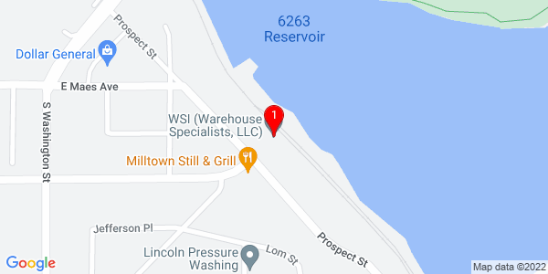 Google Map of 100 West Prospect Street, Combined Locks WI  54113