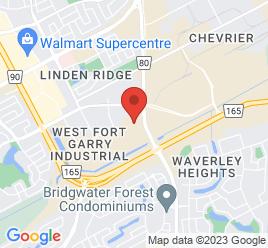 Google Map of 100-1717+Waverley+St.%2CWinnipeg%2CManitoba+R3T+6A9