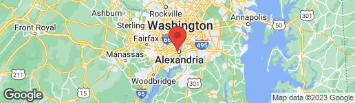 Map of 100 Daingerfield Road Alexandria, VA 22314