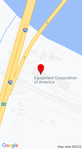 Google Map of Equipment Corporation of America 1000 Station Street, Corapolis, PA, 15108