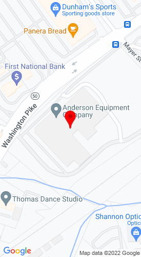 Google Map of Anderson Equipment Company 1000 Washington Pike, Bridgeville, PA, 15017