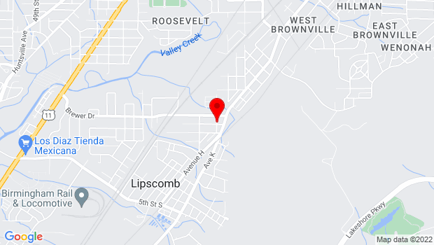 Google Map of 1000 14th Street South, Bessemer, AL 35020