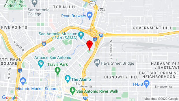 Google Map of 1000 Broadway St, San Antonio, San Antonio, TX 78215