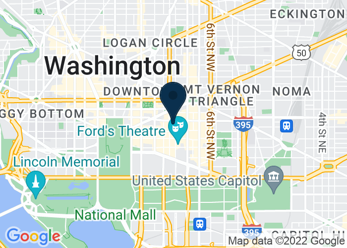 Map of 1000 H St NW, Washington, DC 20001, United States