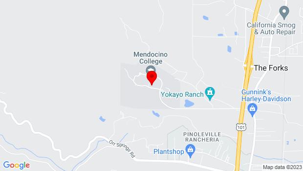 Google Map of 1000 Hensley Creek Road, Ukiah, CA
