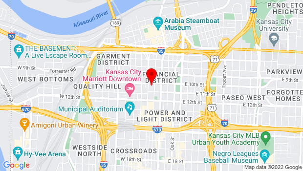 Google Map of 1000 Walnut Street (inside the Commerce Bank Building), Kansas City, MO 64106