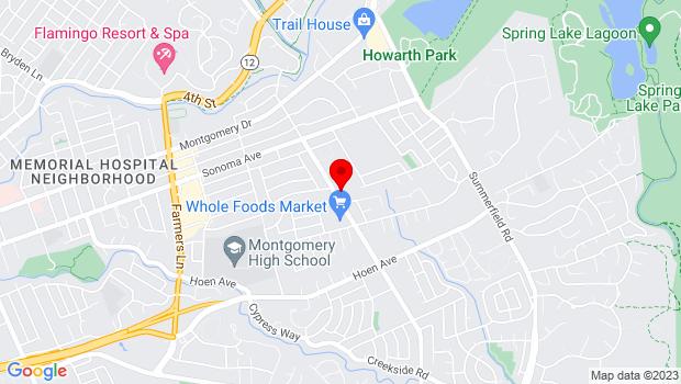 Google Map of 1000 Yulupa Avenue, Santa Rosa, CA