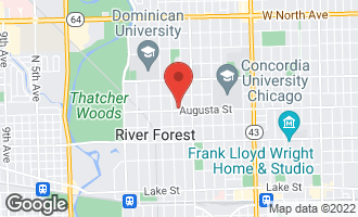 Map of 1000 Ashland Avenue River Forest, IL 60305