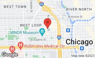Map of 1000 West Washington Boulevard #338 CHICAGO, IL 60607