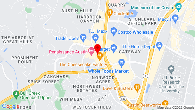 Google Map of 10000 Research Blvd., #118, Austin, TX 78759