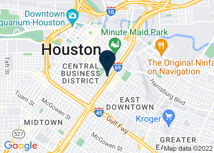 Map of 1001 Avenida De Las Americas, Houston, TX 77010, United States