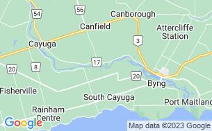 Map of Grand River Cottage & RV Resort - Parkbridge
