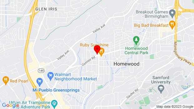 Google Map of 1001 Stuart St   , Birmingham, AL 35209