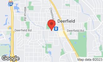 Map of 1001 Deerfield Road #204 DEERFIELD, IL 60015